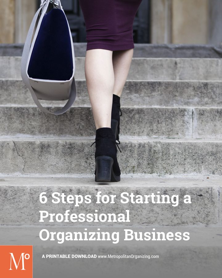 how to become a professional organiser