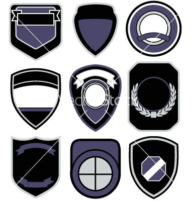 Badge shape icon set vector 756150 - by paul_june on VectorStock®