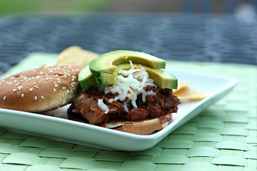 Use this recipe as a taco filling.   Slow Cooker Carne Adovada Cemitas ...