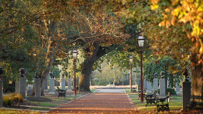 Prime Ministers' Avenue in the Ballarat Botanic Gardens, Victoria