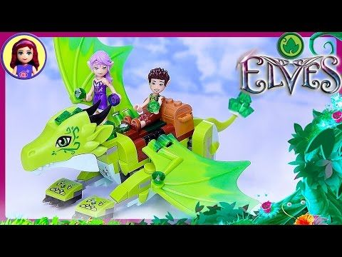 Lego Elves Fire Dragon's Lava Cave Set Build Review Play - Kids Toys - YouTube