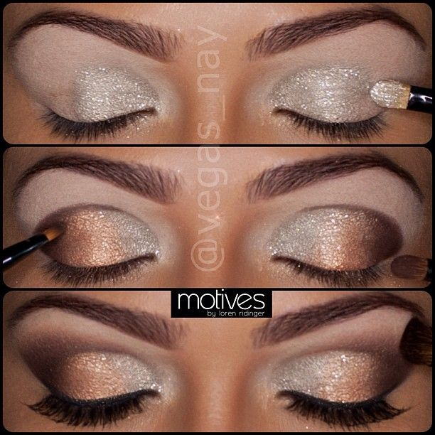 Lovely sparkly holiday eye makeup