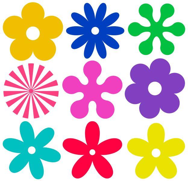 patrones flores de fieltro