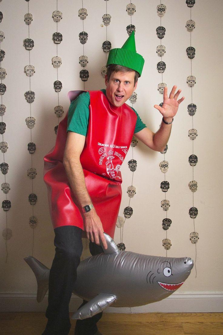 A Sriracha Jumped the Shark Costume for Halloween