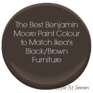 The Best Benjamin Moore Paint Colour To Match Ikea Black Brown Or Espresso  Coloured Furniture