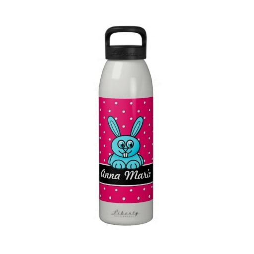 Adorable Blue Bunny Polka Dot Personalized Water B Reusable Water Bottles This site is will advise you where to buyShopping          	Adorable Blue Bunny Polka Dot Personalized Water B Reusable Water Bottles today easy to Shops & Purchase Online - transferred directly secure and trust...