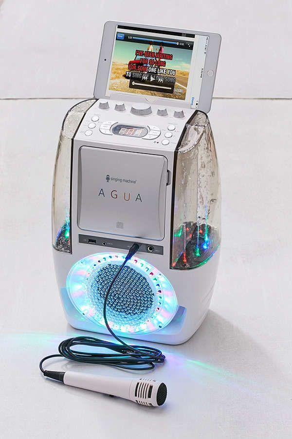 Slide View: 1: Bluetooth Karaoke Machine With Dancing Water Speakers