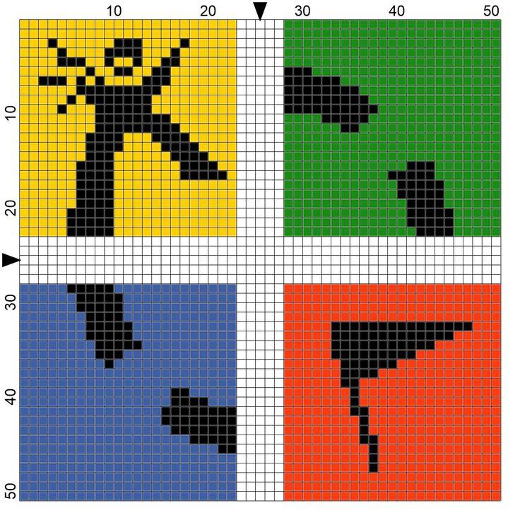 geocaching logo - cross stitch - borduren - zelf gemaakt met PCStitch