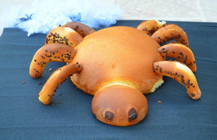 13 desserts, chacun: Araignée pain au lait d'Halloween Défi Boulange