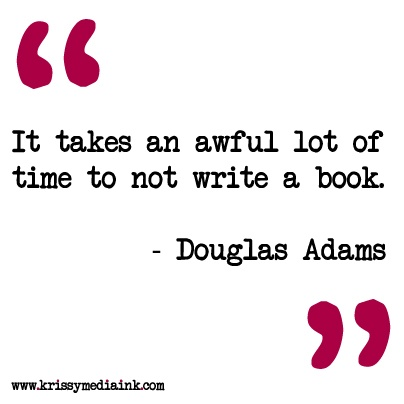 Douglas Adams on writing.