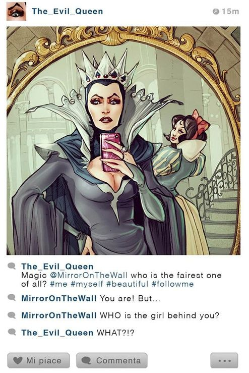 La Méchante Reine et Blanche-Neige selfie.