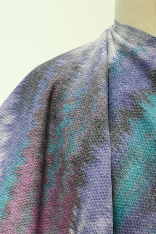 Aurora Borealis French Wool Coating Woven