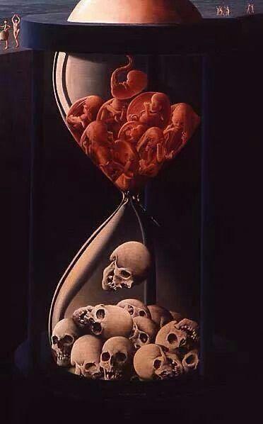 From life to death #dark #art #skulls