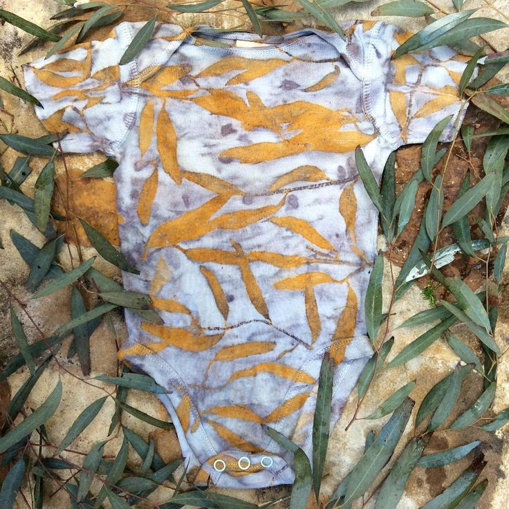 Eucalyptus leaf eco-print on cotton by Gumnut Magic