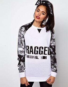 The Ragged Priest Oversized Sweatshirt in Bandana Print  £55.00