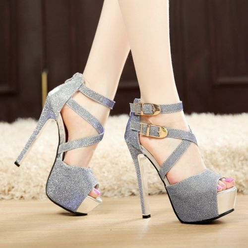 628d0d739f5 Women-Stilettos-Open-Toe-Platform-Sandals-Buckle-Ankle-Strap-High-Heels- Shoes  shoeshighheelswedding