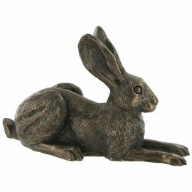 Violet Sitting - Bronze Hare