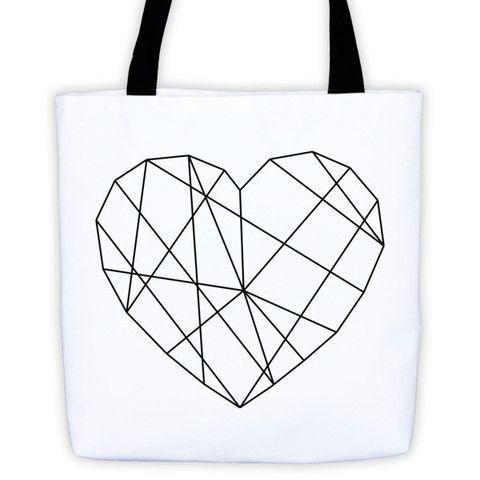 AMAZING HEART BEACH BAG