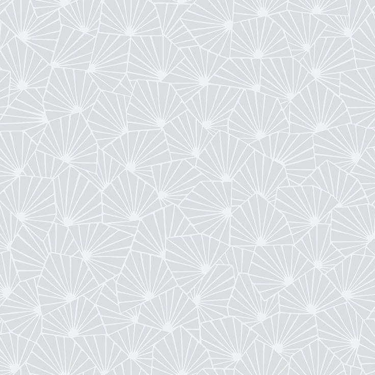 Stjarnflor Grey wallpaper by Boråstapeter