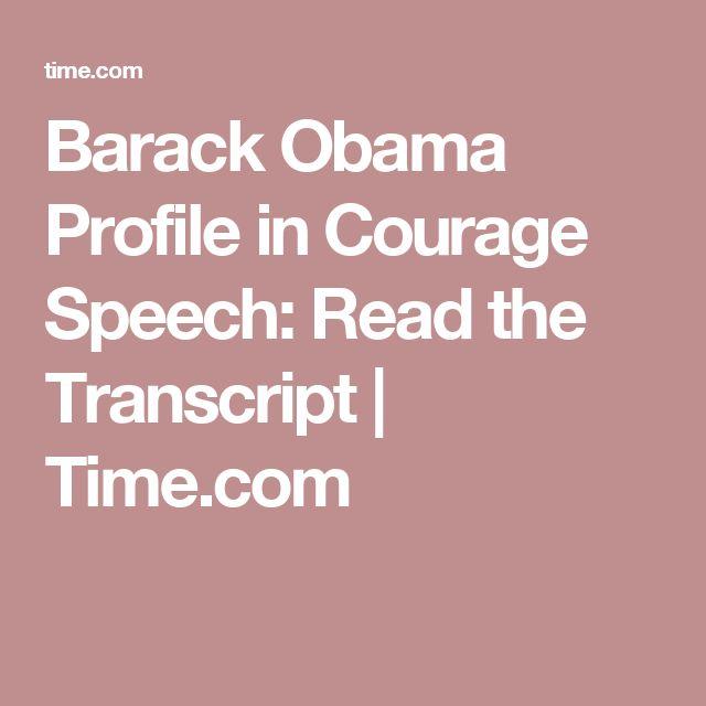 Barack Obama Profile in Courage Speech: Read the Transcript | Time.com