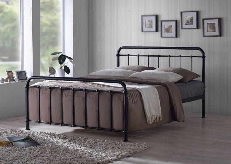 time living miami 4ft6 double black metal bed frame by time living master bedroom project pinterest black metal bed frame metal beds and black metal - Black Metal Bed Frame