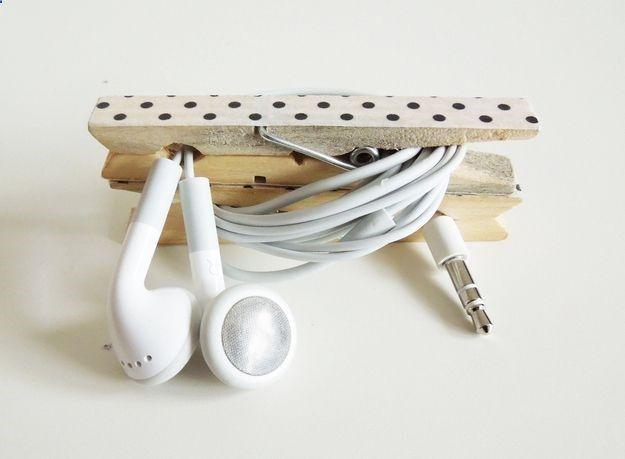 Kopfhörerwäscheklammer