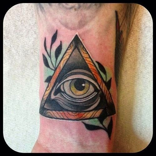 ohgraciepie: tattoo thursday big brother tattoo #1984 #iswatching  traditional tattoo art new age triangle