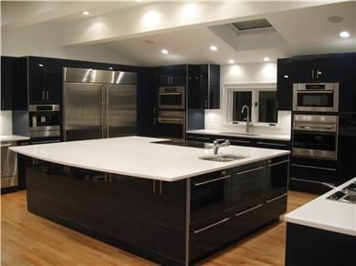 Ultra modern kitchen very cool Cape Cod Kitchens