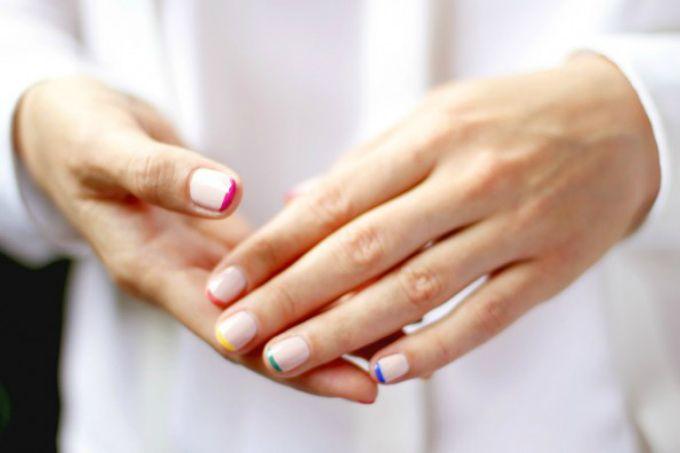 : Nails Art, French Manicures, Colors Nails, Pastel Nails, Nails Polish, French Tips, Neon Nails, Beautiful Blog, Rainbows Nails