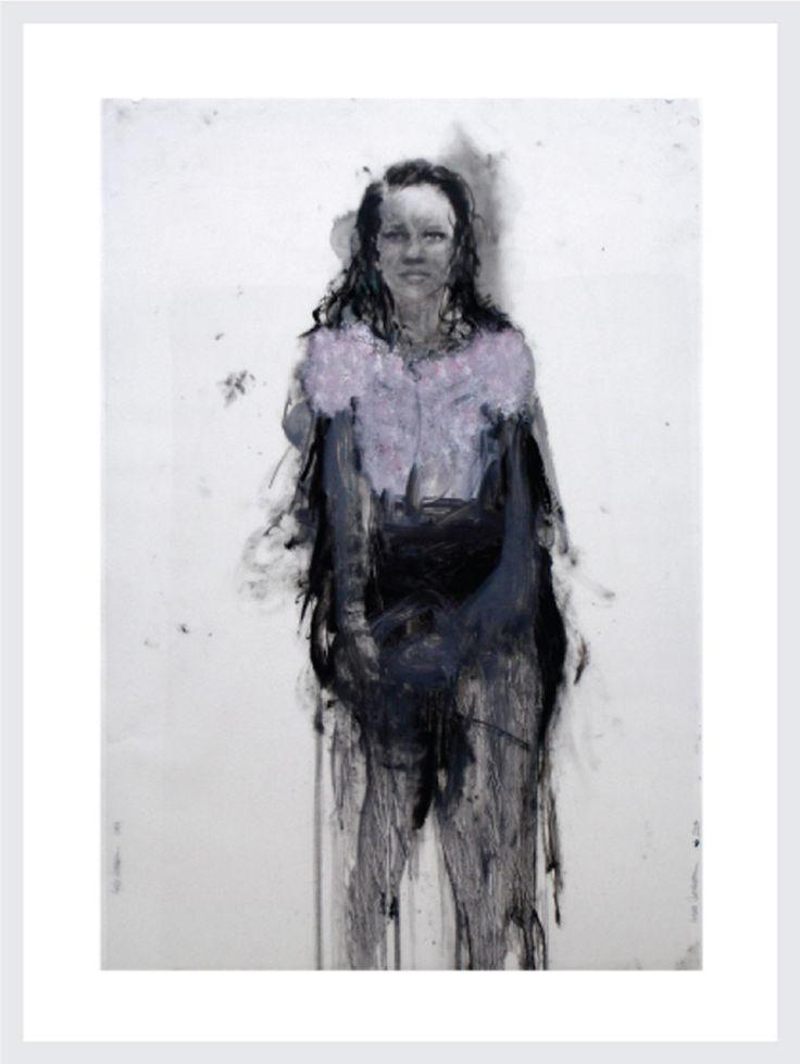 Angela Grossman. Alpha Girls Series: #15, 2004 Mixed Media on Vellum