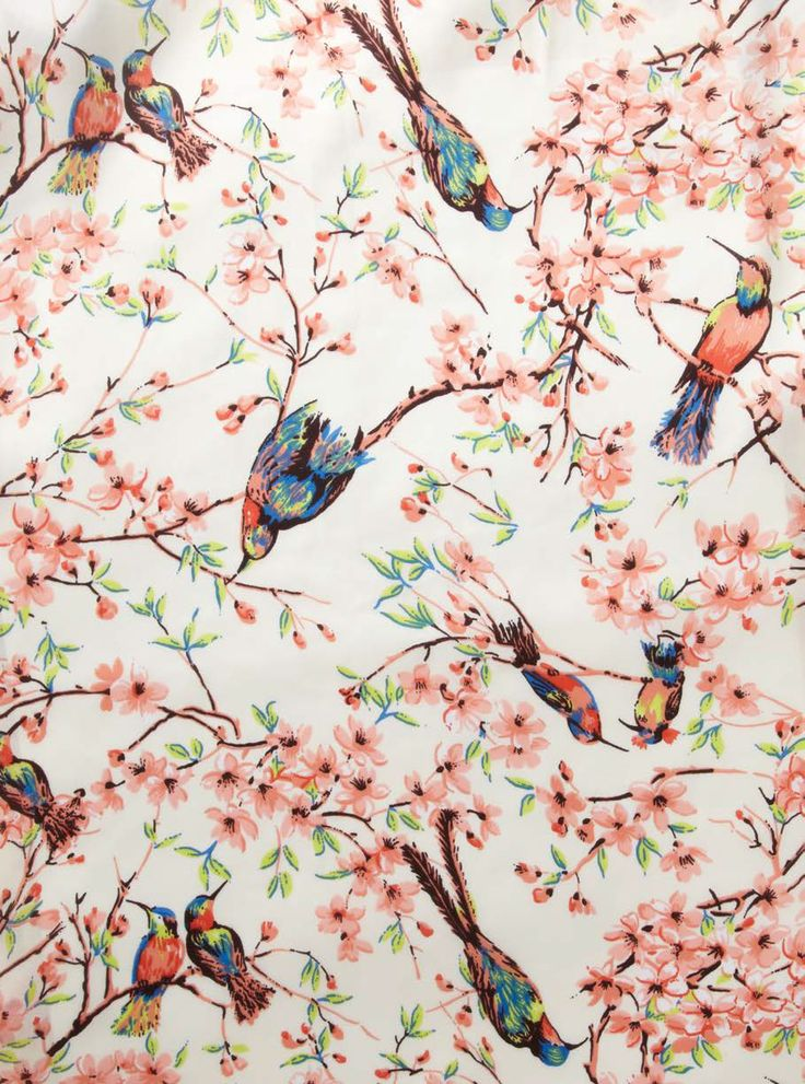 The oriental style was inspired by exotic bird and floral prints with pops of colour.