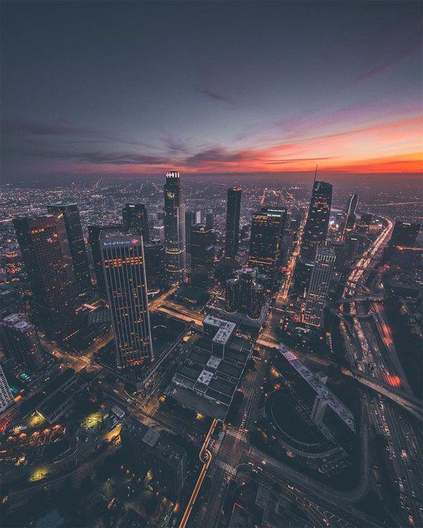 Εντυπωσιακές φωτογραφίες του Λος Άντζελες από ελικόπτερο