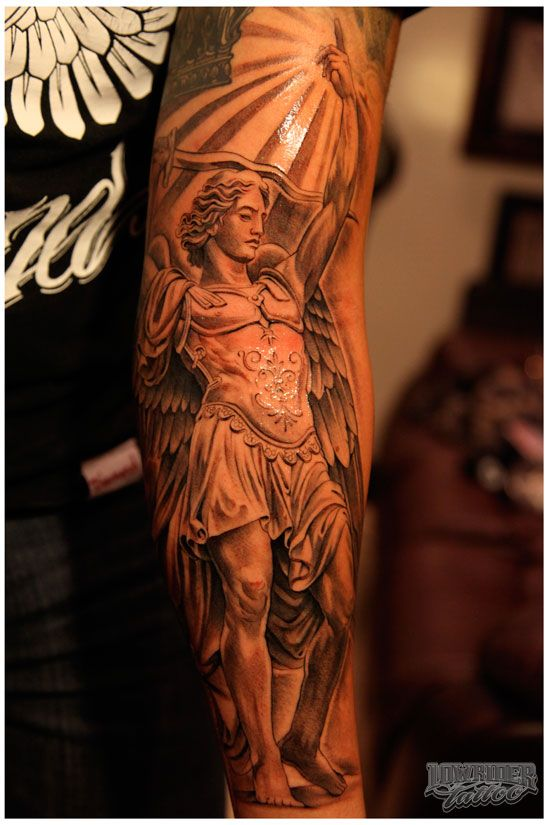st michael color tattoos   SAINT MICHAEL