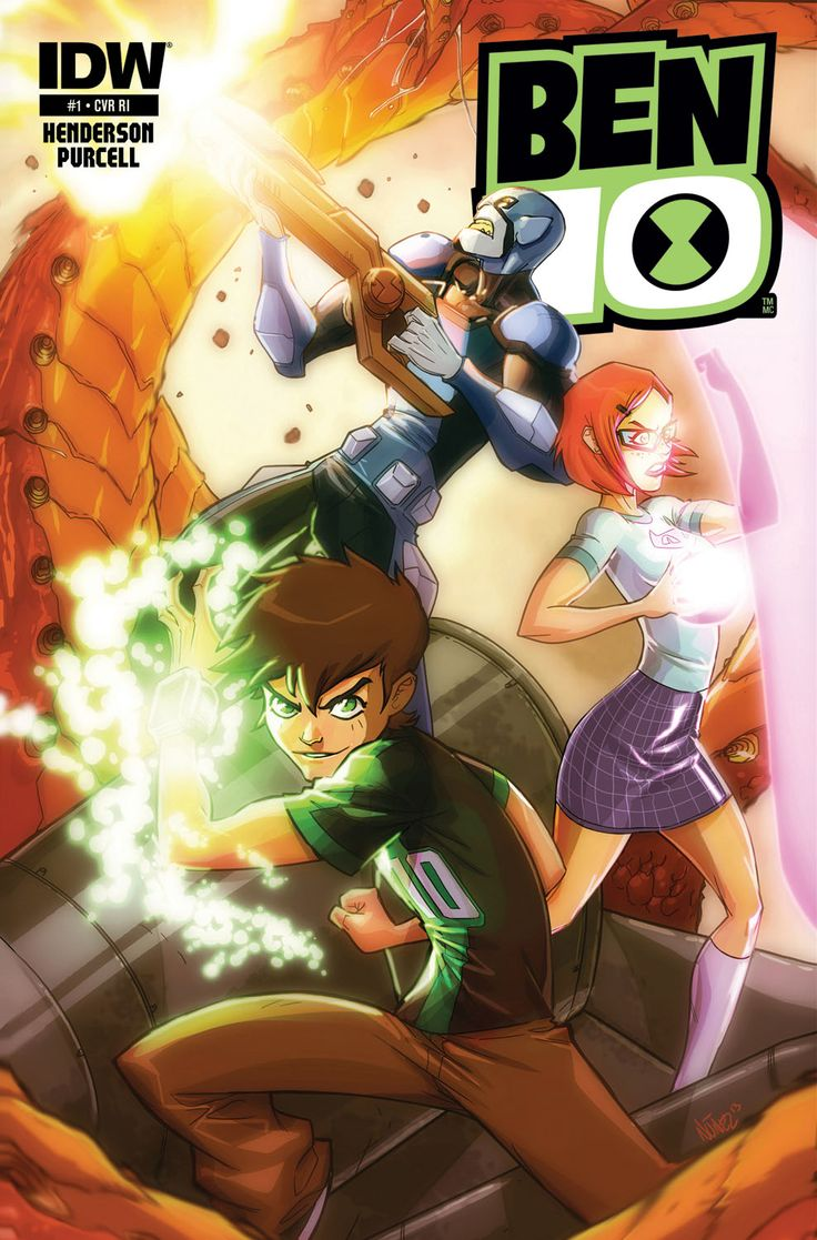 """Ben 10 #1—Subscription Variant Jason Henderson(w) • Gordon Purcell(a) • key animation art (c)  For subscription customers only… enlist up at your local comic shop! A """"key animation art"""" variant cover from the Ben 10 cartoon!  FC • 32 pages • $3.99"""