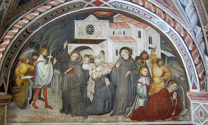 Ottaviano Nelli - Martirio di San Placido - affresco - Monastero di San Benedetto, Subiaco (Umbria)