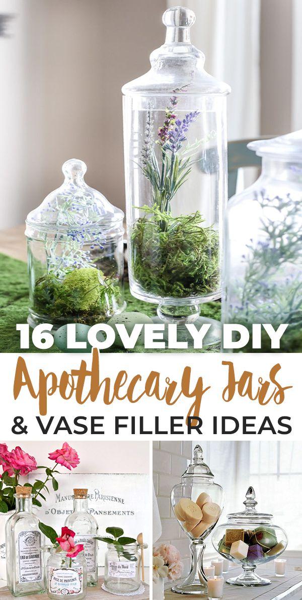 16 Lovely Diy Apothecary Jars Vase Filler Ideas Apothecary Jars Decor Apothecary Jars Apothecary Decor