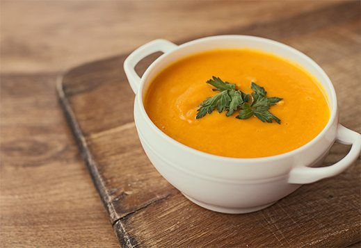 Roasting the vegetables introduces a rich caramelised character to this dish. A deliciously hearty soup packed with veggies and nutrients that will have you licking the bowl!