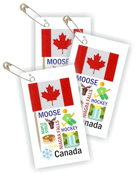 Canada Thinking Day Toothpick Flag SWAP Kit. Are you doing Canada for World Thinking Day? Your girls will be proud to hand out these SWAPs.  Kit makes 100 SWAPs and is available at MakingFriends®.com