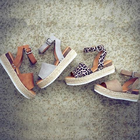 9dc9027dd08 Summer Adjustable Buckle Platform Sandals - gifthershoes