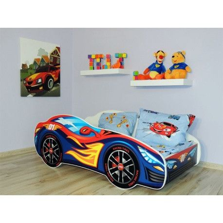 Firey Flames hot rod racing car bed for an adventurous toddler boy or girl - The Little Bedroom Company