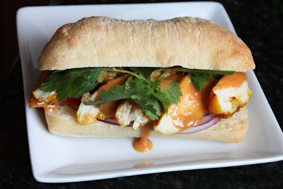 Peanut Sauce is perfect for this grilled chicken sandwich satay-style.