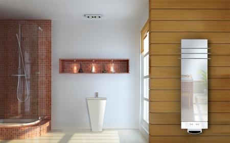Gamme Solaris Soufflants - Fondis Radiateur seche serviette soufflant en verre Solaris Déclinée en 2 modèles et 2 puissances (1550 W et 2000 W), elle s'adaptedans toutes les salles de bain et apporte une chaleur immédiate dans la pièce. Une soufflerie intégrée au bas du radiateur permet de réguler et contrôler le type de chauffage souhaité : en mode confort pour le chauffage d'ambiance et le sèche serviettes ; en mode d'appoint pour une montée rapide en température. http://www.fondis.com/