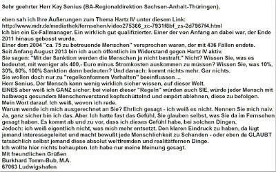 Ma(h)lt sich in diesem Kopf die Welt: Hartz IV Sanktionen Verfassungsgericht - Fragen an Herrn Senius