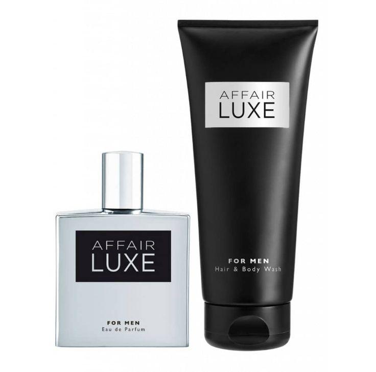 Affair Luxe -  for man set I. Il set comprende : profumo, shampoo capelli & corpo