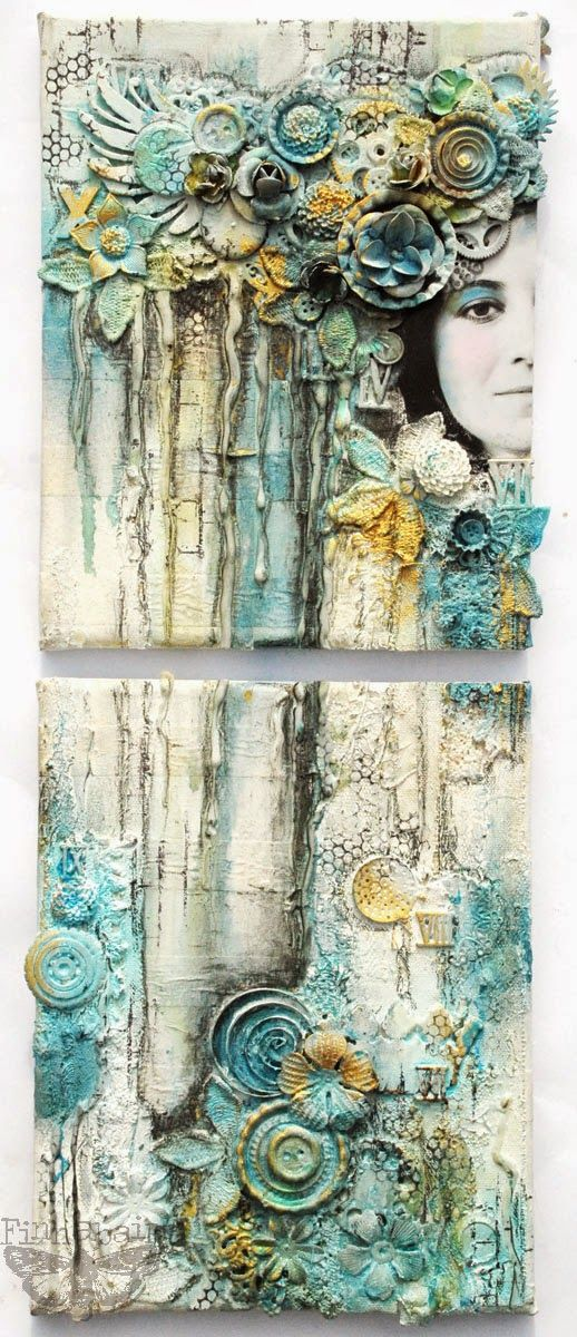 Finnabair: Sometimes I'm Overemotional The author and creator of this style mixed media canvas, and look how it has swept across the world. If there was a definition for mixed media it would definitely have to include the name Finnabair