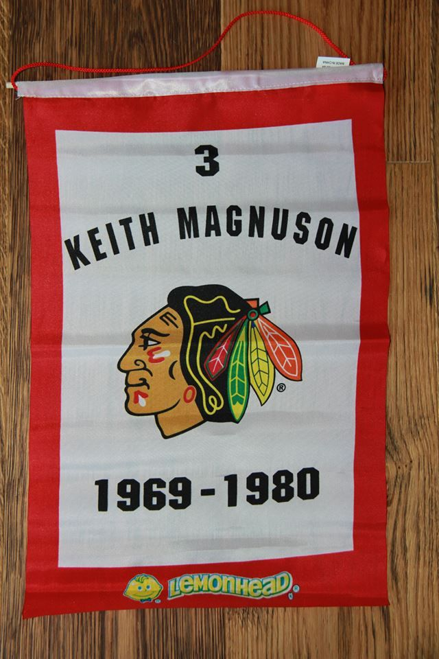 Keith Magnuson Chicago Blackhawks Retirement Banner