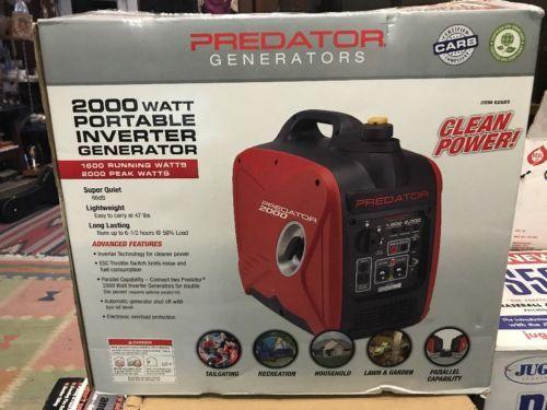 Predator 2000 Watt Generator Inverter Free Cont. USA shipping PUERTO RICO $50