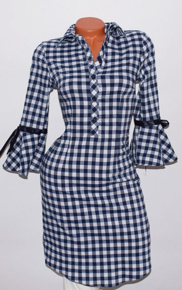 55d661b812 Különleges, kockás, fodros ujjú ingruha S, M, L, XL, XXL - BettyFashion női  ruha webáruház, Ruha webshop, Ruha webáruház, Online divat ruházat… | Ruhák