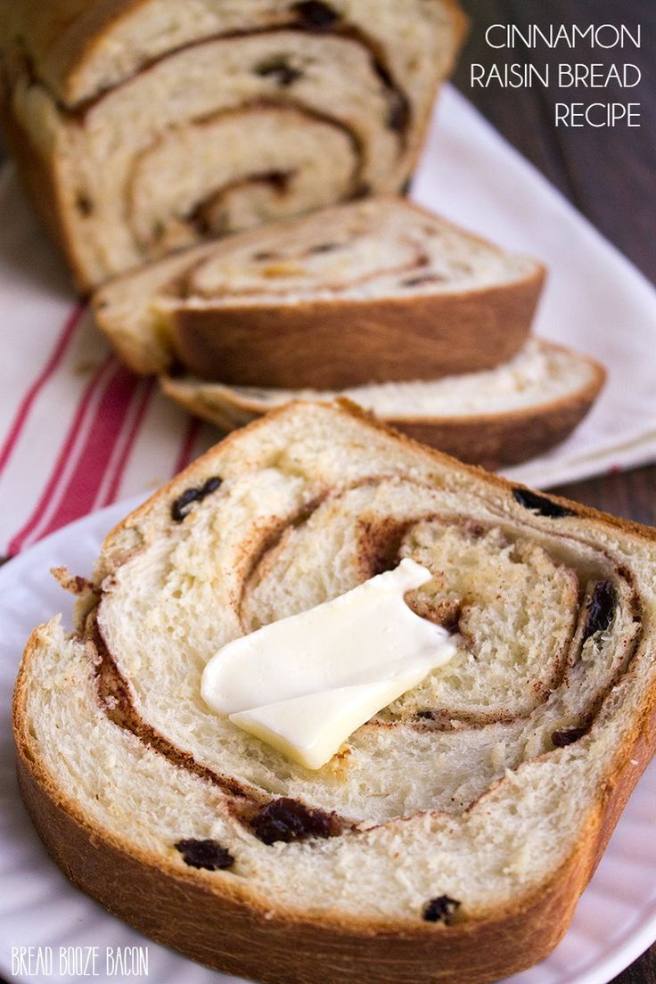 This Cinnamon Raisin Bread Recipe is home-baked goodness at it's finest! Your house is going to smell amazing! via @breadboozebacon