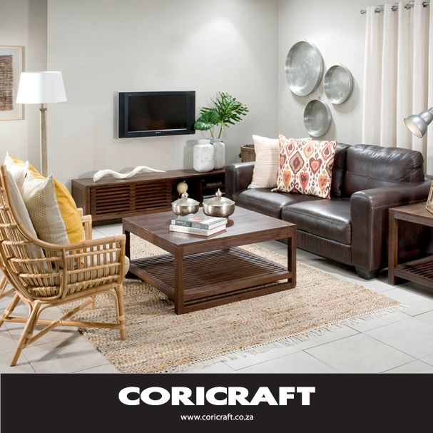 Don't feel afraid to try using different textures in your living room; like wicker and leather! Share your favourite mix 'n match combinations with us.